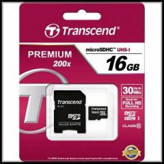 MEMORY CARD 16GB PREMIUM 200X TRANSCEND