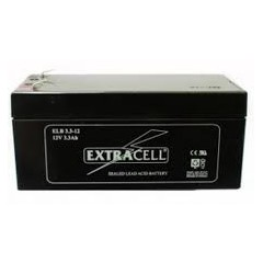 BATTERIA AL PIOMBO RICARICABILE 12V 3,3A TERMINALE FASTON 4.8MM EXTRACELL ELB 3.3-12