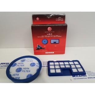 Hoover U24 Kit filtro premotore + filtro aria per aspirapolvere TURBO POWER, RUSH EXTRA