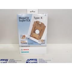Bosch Confezione da 4 sacchetti originale per aspirapovere TYPE: K