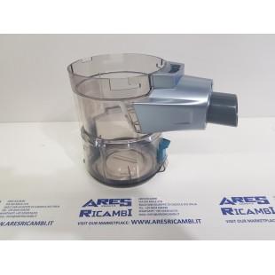 Hoover 48033258 Contenitore polvere originale tasto blu,  scopa H-FREE 300, mod HF322YHM 011