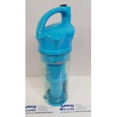 Hoover 49024832 Contenitore completo di filtro per scopa LYRA nero/azzurro LY71, LY120