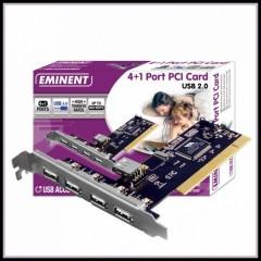 4+1 PORT PCI CARD USB 2.0 EMINENT